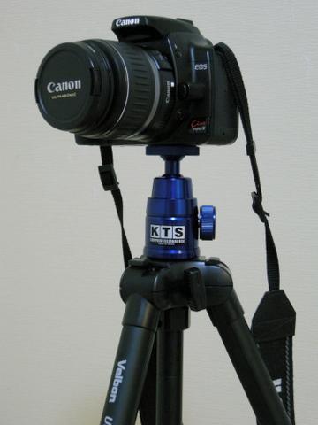 Canon EOS Kiss Digital X + KTS Pro-40 + Velbon ULTRA LUXi L