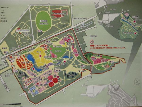 神代植物公園マップ