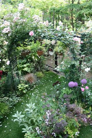 アーチと花壇