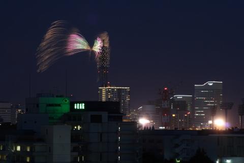 横浜花火ショー1