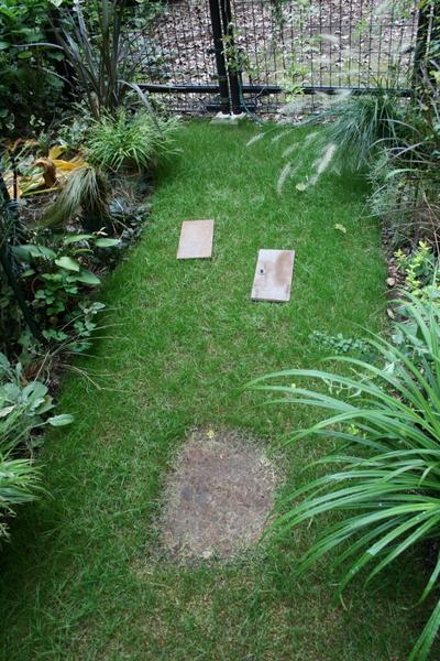 芝刈り用の足場
