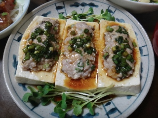 肉詰め豆腐のレンジ蒸し0417