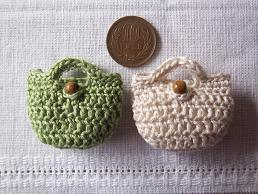長編みミニバッグ(飾りなし)