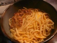キーマカレー釜玉麺