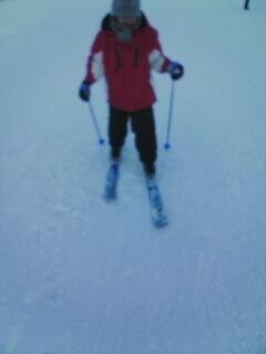 スキー滑る翔