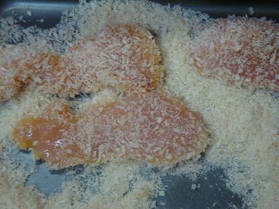 120407鶏ムネ肉のパン粉焼き2