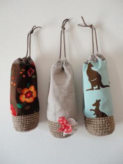 麻編みペットボトルケース