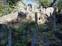 千駄ヶ谷の富士塚登山道