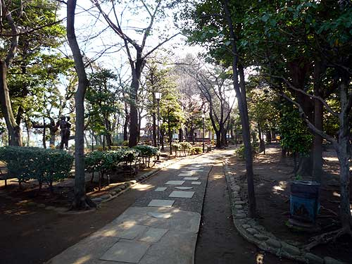 公園と言うよりは静かな散策路 ...