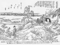 江戸名所図会道潅山聴虫
