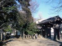 諏方神社の鳥居と浄光寺の山門
