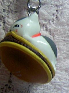 ニャンコ先生ストラップ和菓子「どら焼き」2