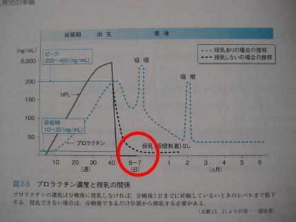 2013年3月5日プロラクチン濃度と授乳の関係