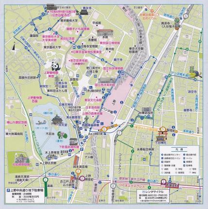 2013年3月9日上野の地図