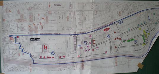 田上さくら並木町会地域図