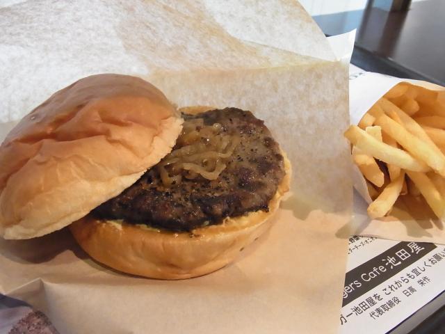 110319_Burgers Cafe 池田屋_ハンバーガーLセット_650円