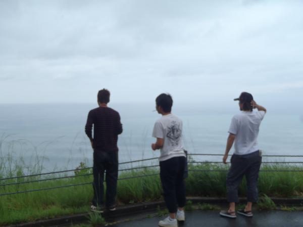 台風みんなで見学