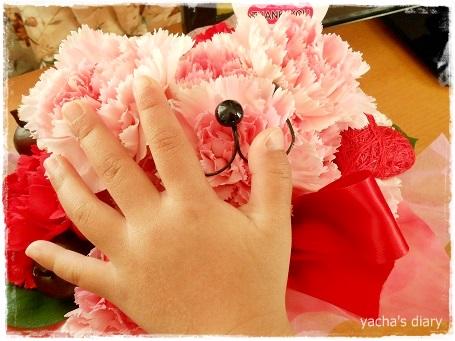 20130315ハナクマと娘の手