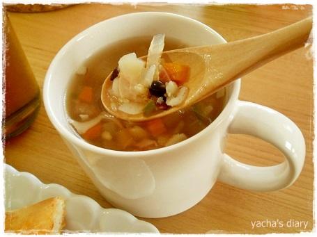 20130315雑穀入りスープ