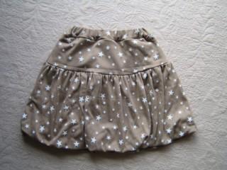 星ニットバルーンスカート
