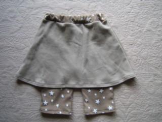 星ニットスカート付きスパッツ