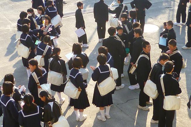 卒業式前日 朝1
