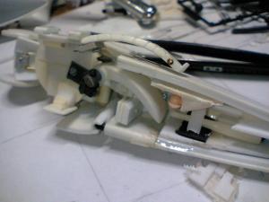 2 製作中肩ブロック内部