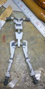 003 ダイバスター フレーム製作開始