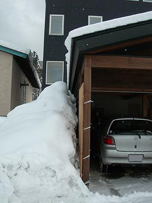 雪避け成功2