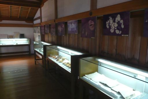 武田遺跡群の発掘資料の展示