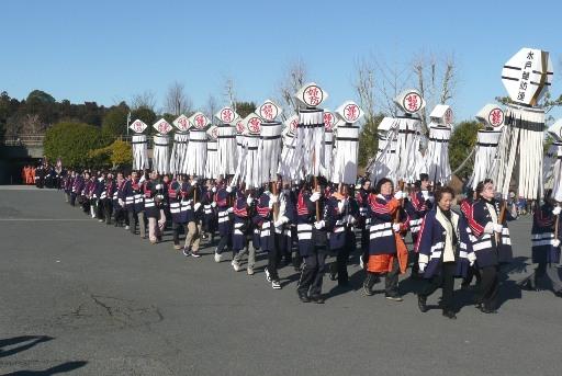 婦人防火クラブの祝賀パレード