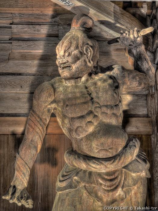 財賀寺仁王門金剛力士立像阿形像
