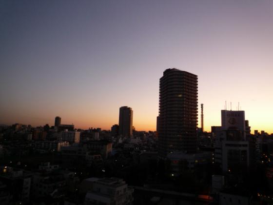 1週間前、朝6時半のマンションからの景色♪
