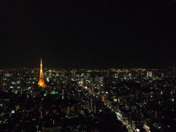 地上200メートルからの東京タワー!