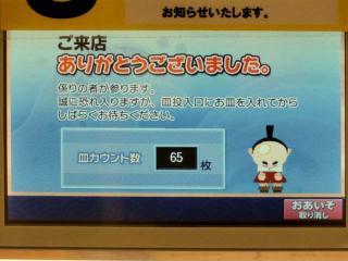 12月現場会議の「くら寿司」は65皿