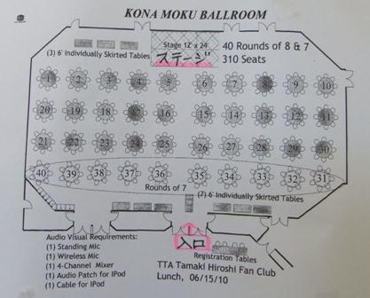 ウェルカムランチパーティ座席図