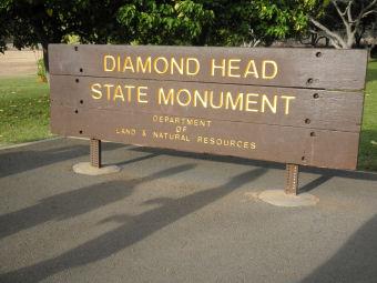 ダイアモンドヘッド看板