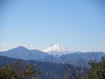 頂上から見た富士山