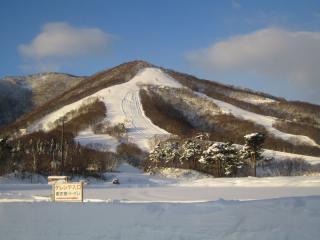 冬至の朝の斑尾山