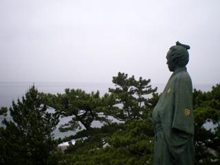 坂本龍馬と桂浜