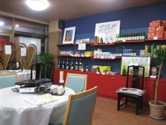 店内奥の、韓国商品販売コーナー