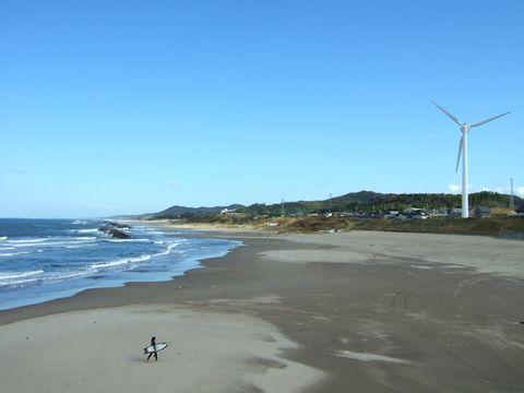秋田県、とあるビーチの風景