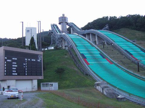 白馬のスキージャンプ台