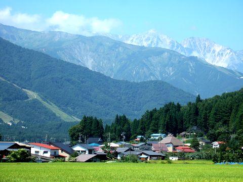 白馬村の風景
