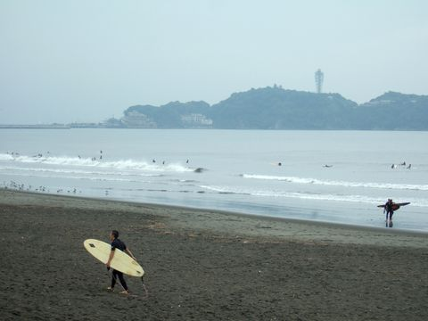 湘南海岸と江ノ島
