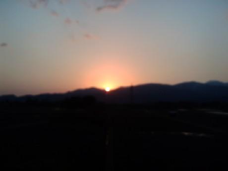 立山連峰日の出