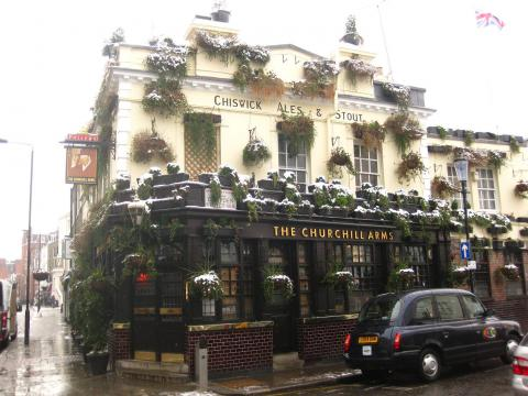 Snowy Churchill arms