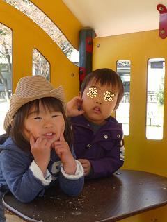 2011 03 31 きっぺい君と公園 tibi01