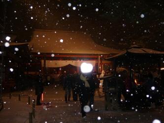 大雪の毛越寺
