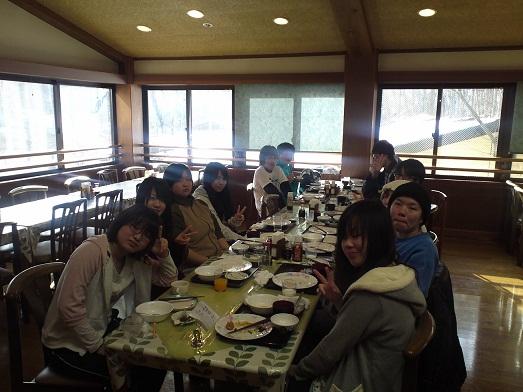 2013春合宿二日目朝食